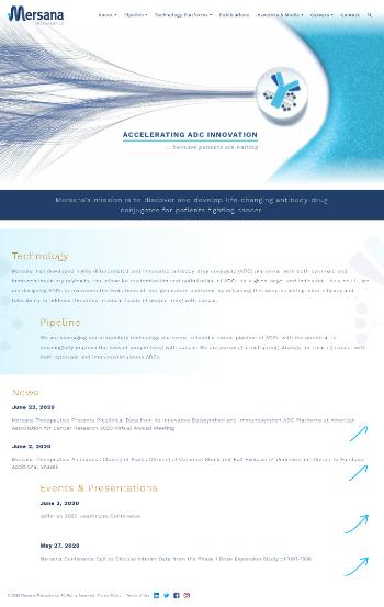 Mersana Therapeutics, Inc. Website Screenshot