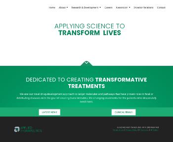 Applied Therapeutics, Inc. Website Screenshot
