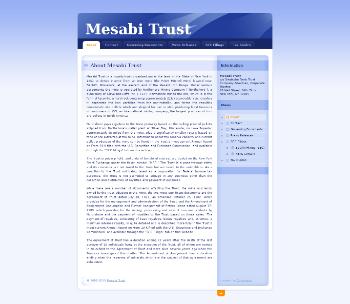 Mesabi Trust Website Screenshot