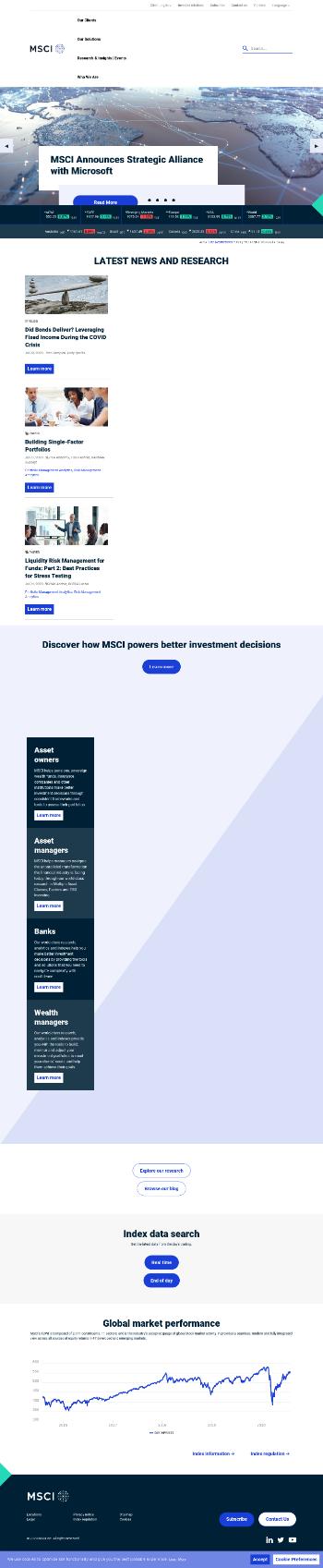 MSCI Inc. Website Screenshot