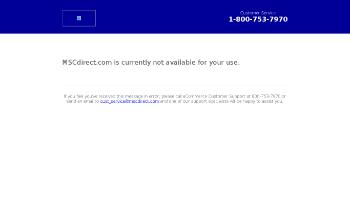 MSC Industrial Direct Co., Inc. Website Screenshot