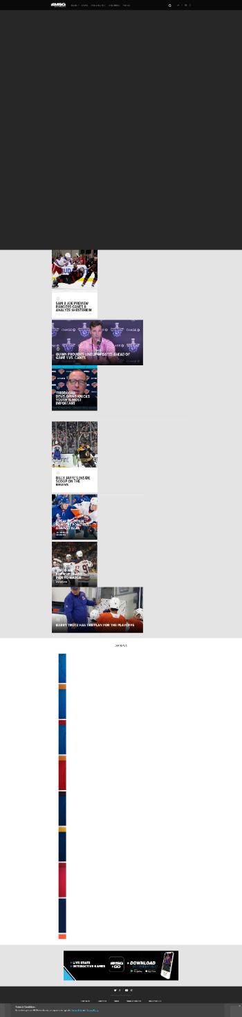 MSG Networks Inc. Website Screenshot