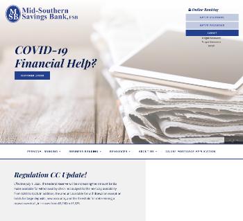 Mid-Southern Bancorp, Inc. Website Screenshot