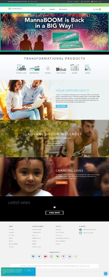 Mannatech, Incorporated Website Screenshot