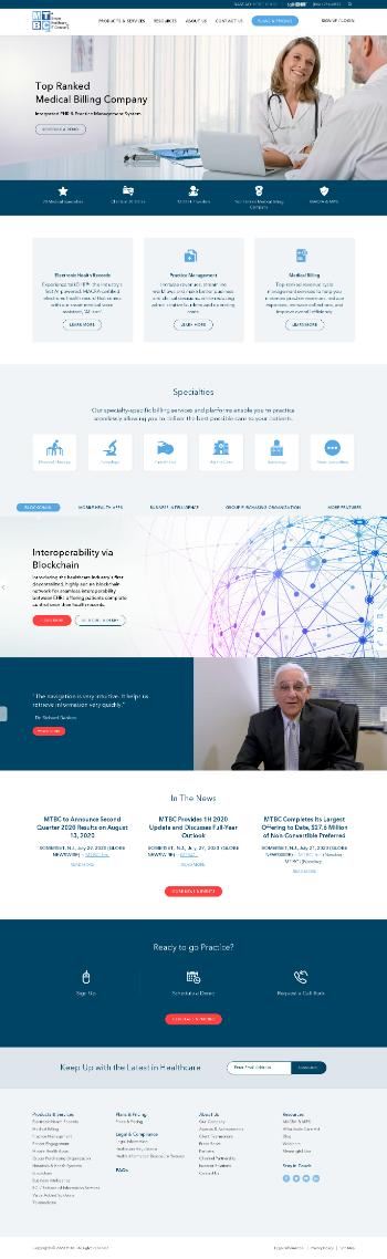 MTBC, Inc. Website Screenshot