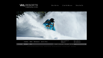 Vail Resorts, Inc. Website Screenshot