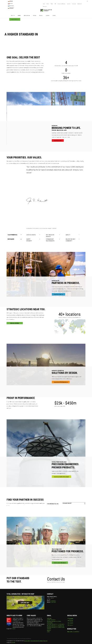 Matrix Service Company Website Screenshot