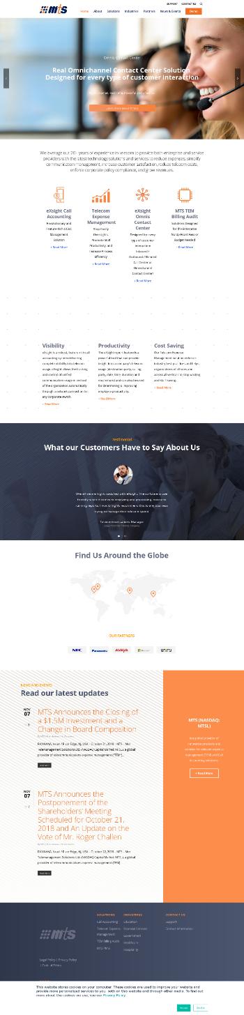 Mer Telemanagement Solutions Ltd. Website Screenshot