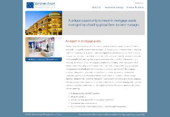 Western Asset Mortgage Capital Corporation Website Screenshot