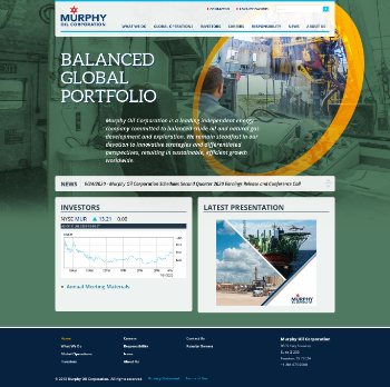 Murphy Oil Corporation Website Screenshot