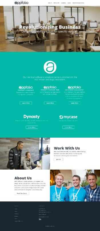 AppFolio, Inc. Website Screenshot