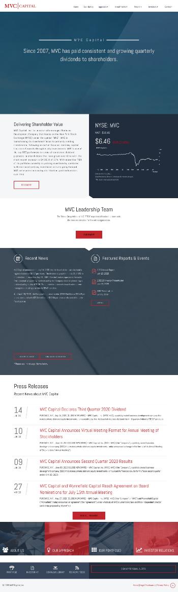 MVC Capital, Inc. Website Screenshot