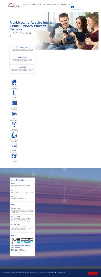 MaxLinear, Inc. Website Screenshot