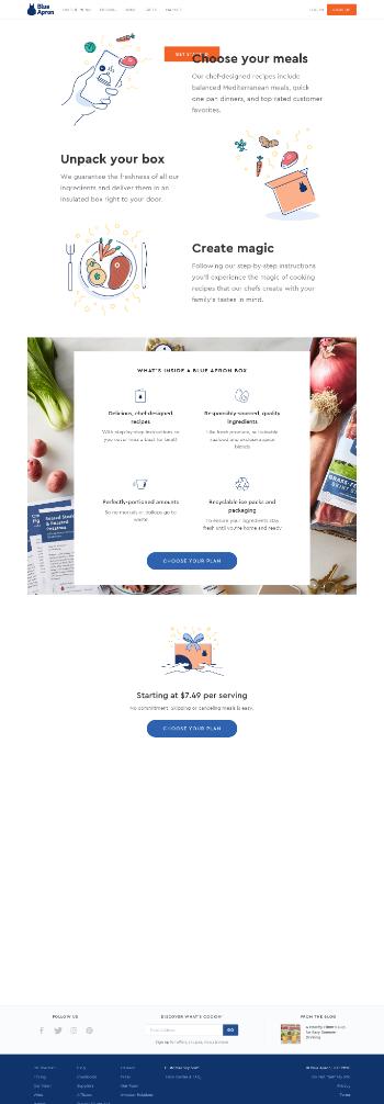 Blue Apron Holdings, Inc. Website Screenshot