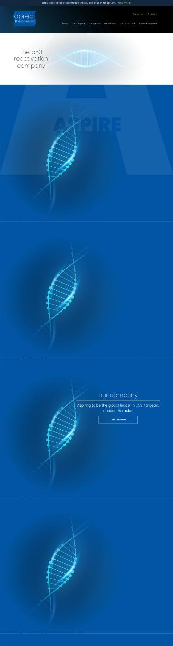 Aprea Therapeutics, Inc. Website Screenshot
