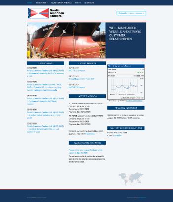 Nordic American Tankers Limited Website Screenshot