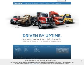 Navistar International Corporation Website Screenshot