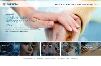 Neurocrine Biosciences, Inc. Website Screenshot