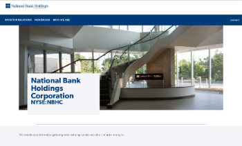 National Bank Holdings Corporation Website Screenshot
