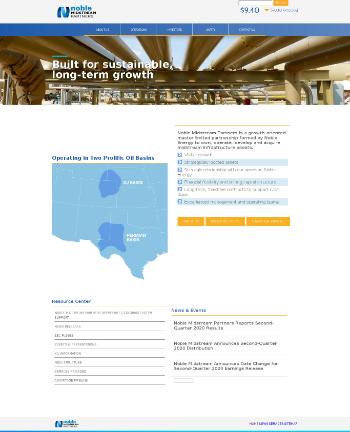 Noble Midstream Partners LP Website Screenshot