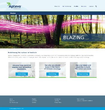 Aptevo Therapeutics Inc. Website Screenshot