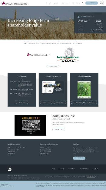 NACCO Industries, Inc. Website Screenshot