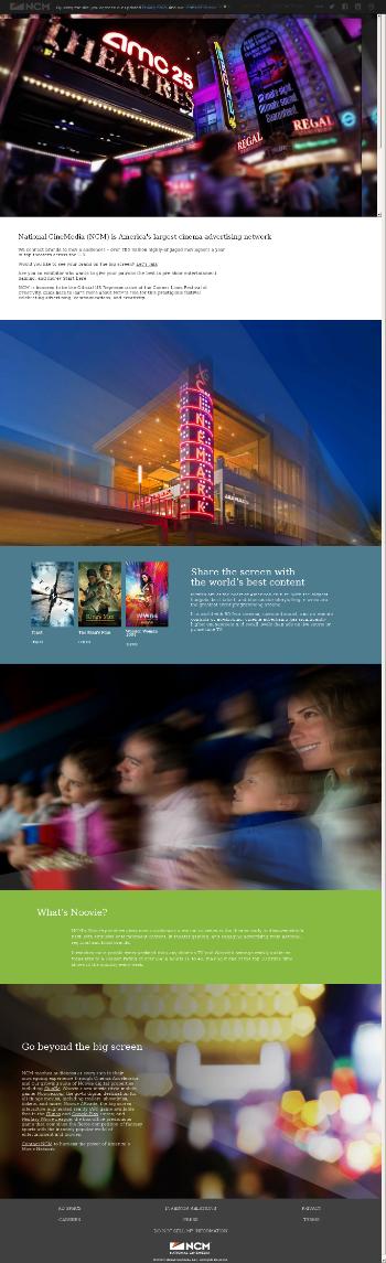 National CineMedia, Inc. Website Screenshot