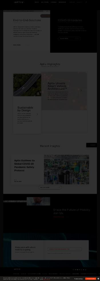 Aptiv PLC Website Screenshot