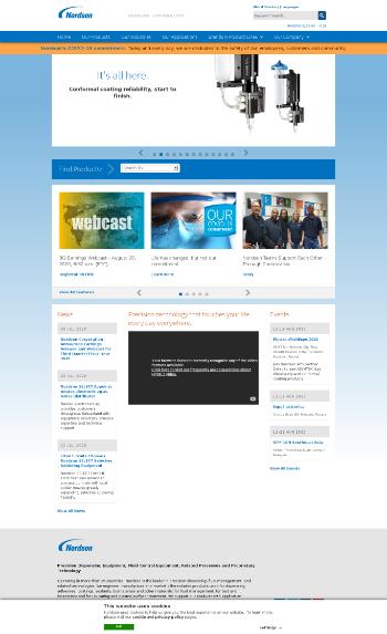 Nordson Corporation Website Screenshot