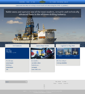 Noble Corporation plc Website Screenshot