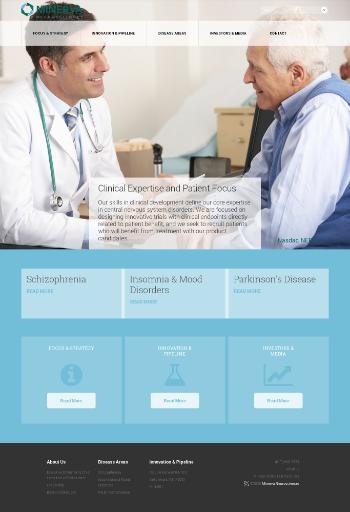 Minerva Neurosciences, Inc. Website Screenshot