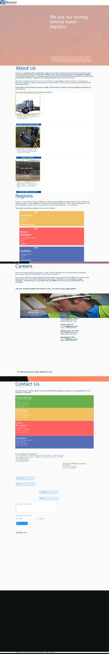 Nuverra Environmental Solutions, Inc. Website Screenshot