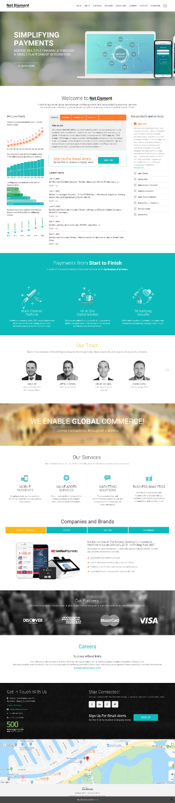 Net Element, Inc. Website Screenshot