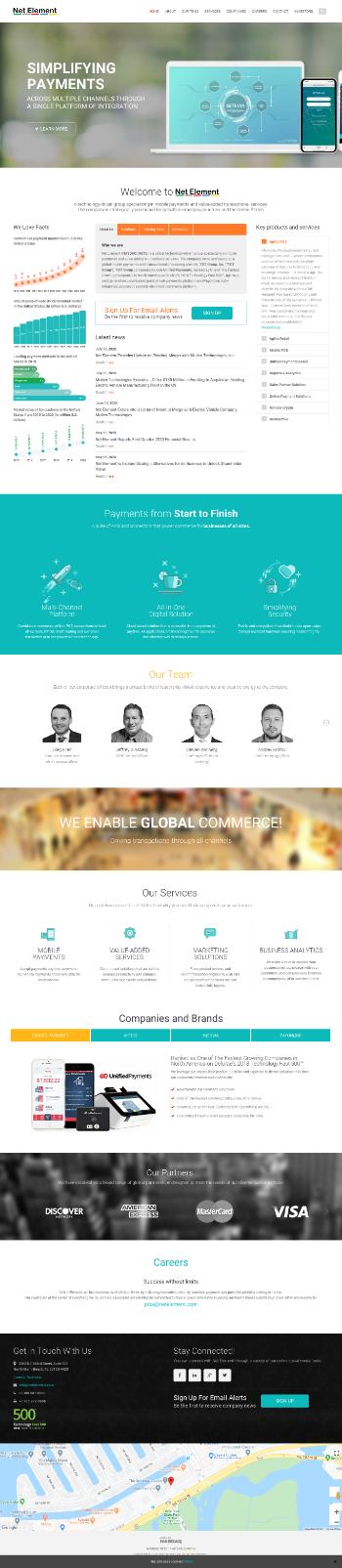 Net Element, Inc. Website Screenshot