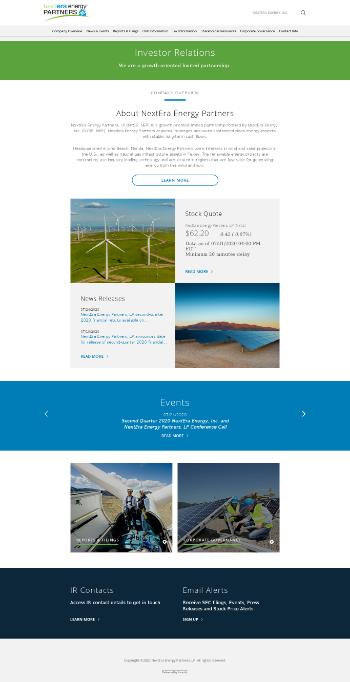 NextEra Energy Partners, LP Website Screenshot