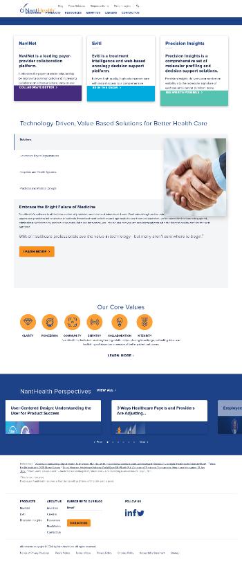 NantHealth, Inc. Website Screenshot