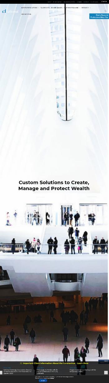 National Holdings Corporation Website Screenshot