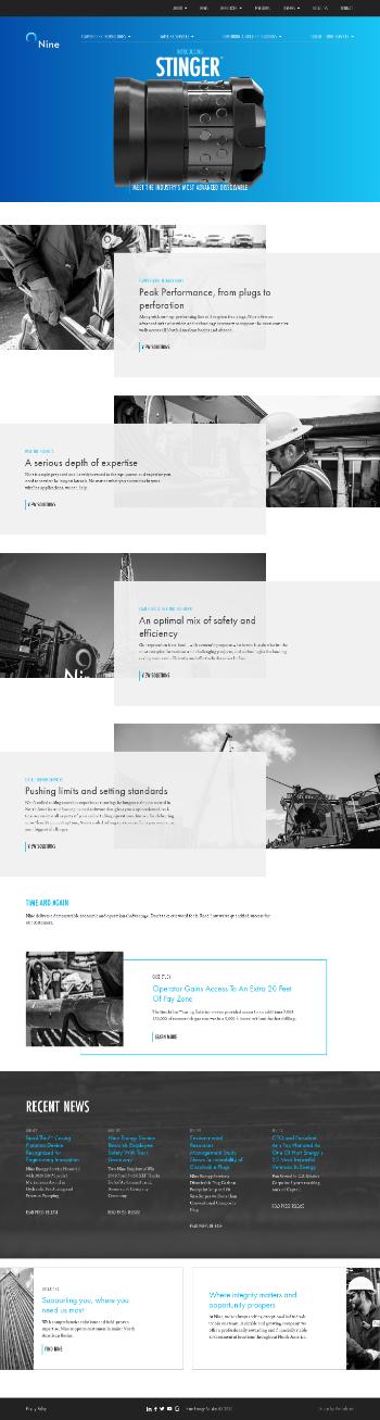 Nine Energy Service, Inc. Website Screenshot