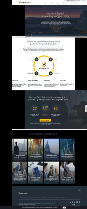 NortonLifeLock Inc. Website Screenshot