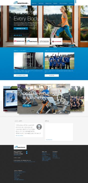 Nautilus, Inc. Website Screenshot