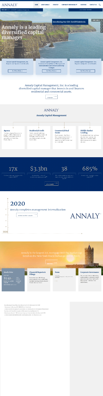 Annaly Capital Management, Inc. Website Screenshot