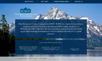 New Mountain Finance Corporation Website Screenshot