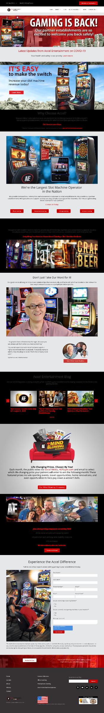 Accel Entertainment, Inc. Website Screenshot