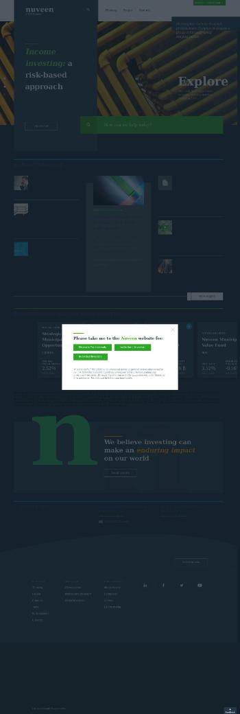 Nuveen Municipal Income Fund, Inc. Website Screenshot