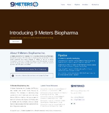 9 Meters Biopharma, Inc. Website Screenshot