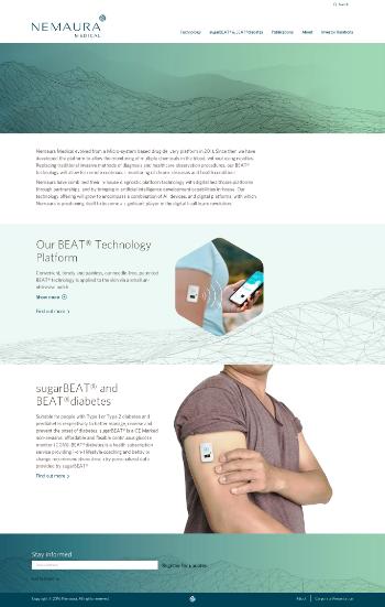 Nemaura Medical Inc. Website Screenshot