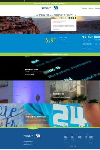National Retail Properties, Inc. Website Screenshot