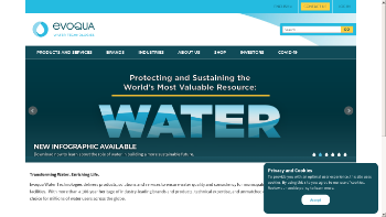 Evoqua Water Technologies Corp. Website Screenshot