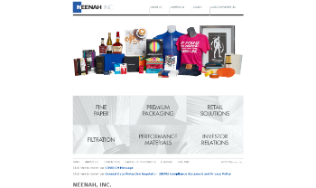Neenah, Inc. Website Screenshot