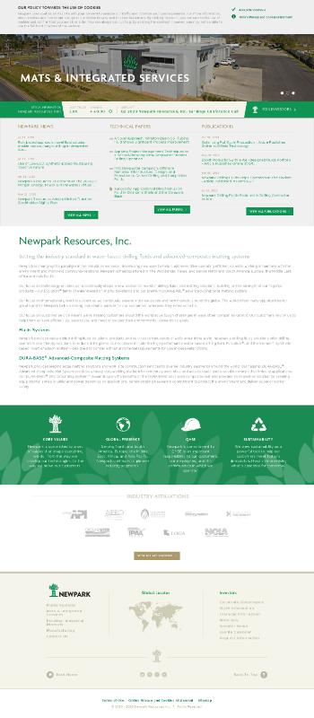 Newpark Resources, Inc. Website Screenshot